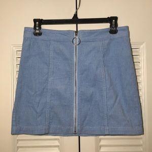 Cuordoroy Zip Front Skirt